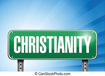religieux, christianisme, bannière, panneaux signalisations