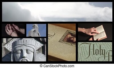 religieux, métrage, collage, 5