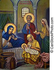 religijny, starożytny, -, cypr, ikona