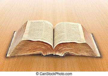 religion., öreg, biblia