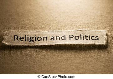 Religion and Politics - Religion and politics concept.