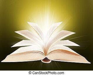 Religion book - Religion and magic book. Book letters.