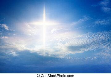 religion, céleste, croix, symbole, forme
