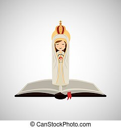 religion catolic virgin mary immaculate haert bible design...