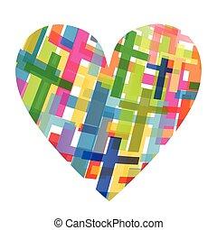 religion, concept, croix, christianisme