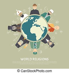Religion Confession Illustration - Color flat illustration...