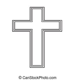 religion, croix, icône