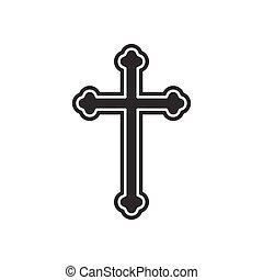 Religion cross icon