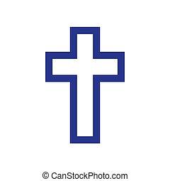 Religion cross icon on white background. Vector illustration