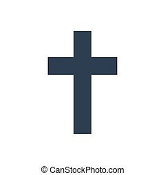 Religion cross icon on white background. Vector illustration