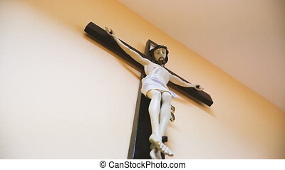 Religion. Cross with Jesus Chrestos