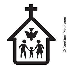 Religion design over white background, vector illustration