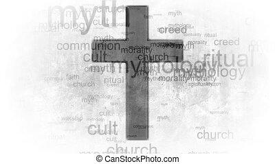 Religion faith cross. Words synonyms for religion