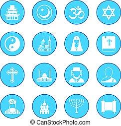 Religion icon blue