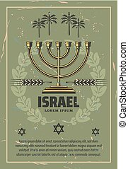 religion, israël, menorah, judaïsme, hanukkah