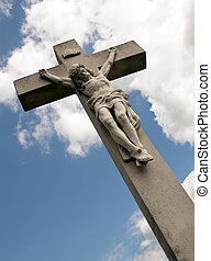 Religion - Jesus on the cross taut.