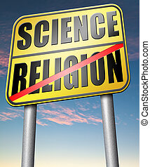 religion, relation, science