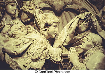 religion sculptures, angels romantic gothic