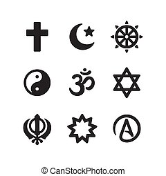 Religion symbols icon set - Icon set of religious symbols....