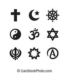Religion symbols icon set - Icon set of religious symbols....