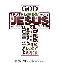 Religion word cloud, Jesus, Christianity
