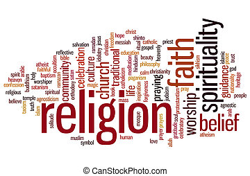 Religion word cloud - Religion concept word cloud background