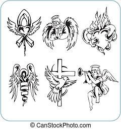 religione, cristiano, vettore,  -, illustrazione