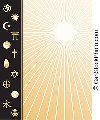 religioni mondo, manifesto