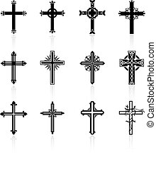 religiosas, desenho, crucifixos, cobrança
