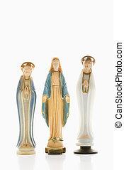 religiosas, figurines.