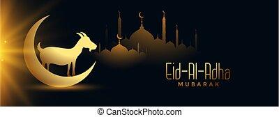 religioso, al, eia, adha, celebración, mubarak, bandera