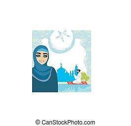 religioso, astratto, musulmano, -, fondo