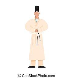 religioso, japonés, tradicional, priest., religion., shinto...