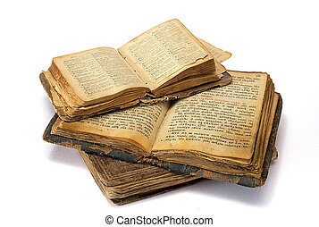 religioso, libros, viejo