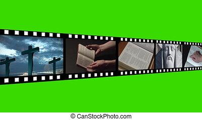 religioso, metraggio, fotomontaggio