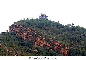 Religious architecture landscape in a mountain