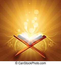 quraan vector - religious book of quraan vector illustration