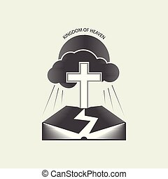 Religious Christian Logo - Religious Christian logo with the...