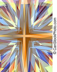Religious cross starburst background