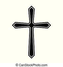 Religious cross. Vector