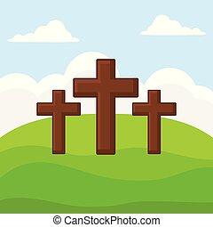 Religious crosses design