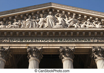 Religious Frieze - Historic church of Medelaine in the Opera...