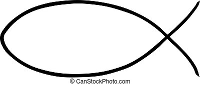 Illustration of a religious Jesus fish on a white background.