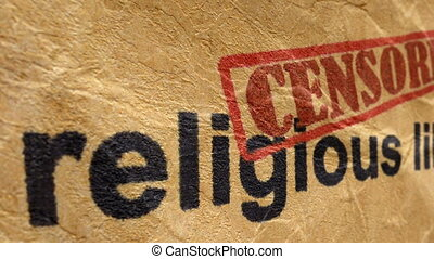Religious liberty censored