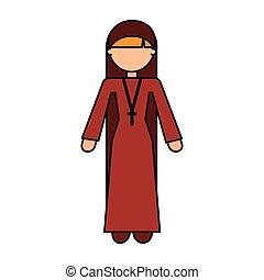 religious nun avatar character