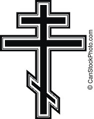 Religious orthodox cross icon on white background. Vector...