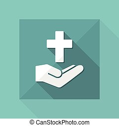 Religious services concept - Minimal flat icon