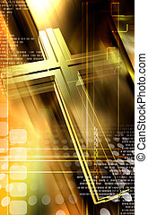 Religious sign - Digital illustration of Religious sign in...