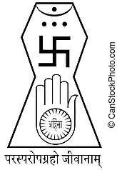Religious sign. Jainism. This is the official symbol of...
