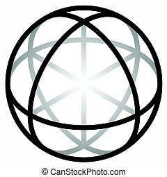 Religious sign. Wicca and Neopaganism. Sphere of Deiwos....